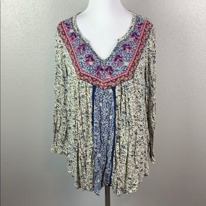 Icky brand embroidery top